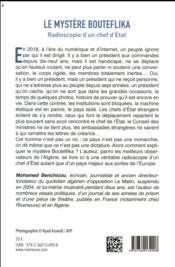 Le mystère Bouteflika ; radioscopie d'un chef d'Etat - 4ème de couverture - Format classique