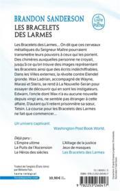 Fils-des-Brumes T.6 ; les bracelets des larmes - 4ème de couverture - Format classique
