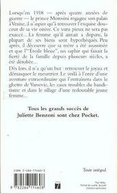 Le boiteux de varsovie - tome 1 l'etoile bleue - 4ème de couverture - Format classique