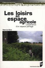 Loisirs en espace agricole - Intérieur - Format classique
