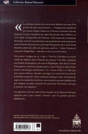 Le prince et la république ; histoire, pouvoir et société dans la florence des médicis au xvii siècle - 4ème de couverture - Format classique