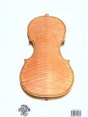 Manuel de lutherie ; à l'usage des amateurs ; violon, alto, violoncelle - 4ème de couverture - Format classique
