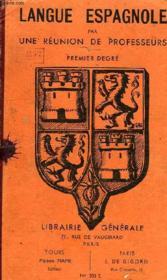 COURS DE LANGUE ESPAGNOLE, 1er DEGRE - Couverture - Format classique