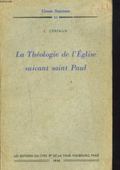 La Theologie De L'Eglise Suivant Saint Paul - Couverture - Format classique