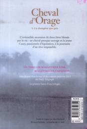 Cheval d'orage - 4ème de couverture - Format classique