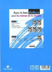 Economie Bts T.1 ; Pochette Reference ; Livre De L'Eleve ; Edition 1999 - 4ème de couverture - Format classique