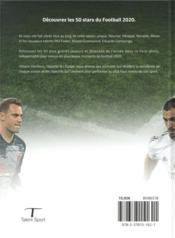 Les 50 stars du football (édition 2020) - 4ème de couverture - Format classique