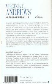 La famille Logan t.5 ; Olivia - 4ème de couverture - Format classique