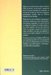 Initiation A La Geographie - 4ème de couverture - Format classique