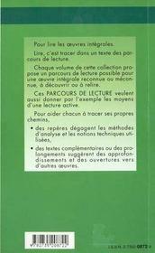 On Ne Badine Pas Avec L'Amour - Parcours De Lecture - 4ème de couverture - Format classique