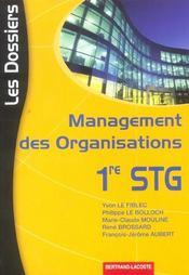Stg ; Les Dossiers Management Des Organisations - Intérieur - Format classique