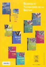 Stg ; Les Dossiers Management Des Organisations - 4ème de couverture - Format classique