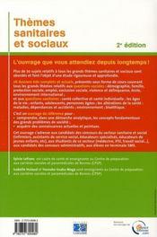 Thèmes sanitaires et sociaux (2e édition) - 4ème de couverture - Format classique
