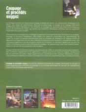 Coupage et procédés oxygaz - 4ème de couverture - Format classique
