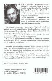 Dugarry L'Insoumis - 4ème de couverture - Format classique