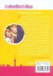 Le destin de Lisa t.6 - 4ème de couverture - Format classique