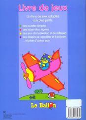Livre de jeux 5-6 ans ; puzzles labyrinthes - 4ème de couverture - Format classique