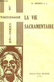 La Vie Sacramentaire - Couverture - Format classique
