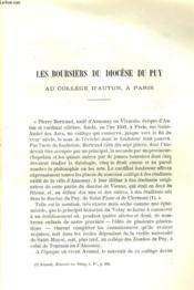Les Boursiers Du Diocese Du Puy Au College D'Autun, A Paris - Couverture - Format classique