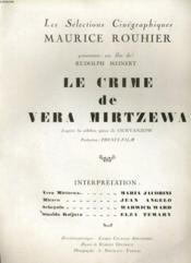 Le Crime De Vera Mirtzewa - Couverture - Format classique