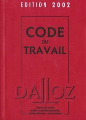 Code Du Travail ; 64e Edition - Intérieur - Format classique