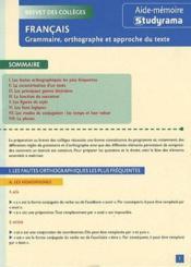 Francais brevet - Couverture - Format classique