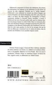 Hollywood, les connexions françaises - 4ème de couverture - Format classique