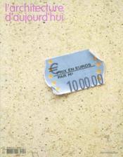 Revue L'Architecture D'Aujourd'Hui N.345 ; 1000 Euros Par M2 - Couverture - Format classique