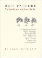 L'émotion impossible - Couverture - Format classique