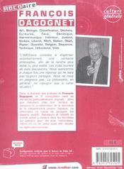 Francois Dagognet (+Cd Video) - 4ème de couverture - Format classique