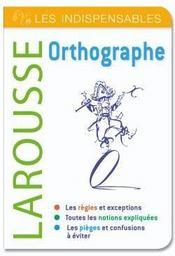telecharger Orthographe – les indispensables Larousse livre PDF en ligne gratuit