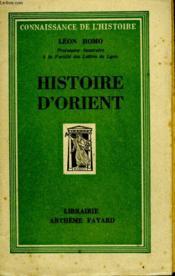 Histoire D'Orient. - Couverture - Format classique