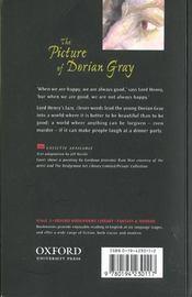 The picture of dorian gray niveau: 3 - 4ème de couverture - Format classique