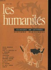 Les Humanites N°344 - Classes De Lettres - Sections Classiques - Couverture - Format classique
