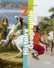 Histoire-géographie, 2de ; manuel élève (5e édition) - Couverture - Format classique