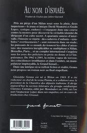 Au Nom D'Ismael - 4ème de couverture - Format classique