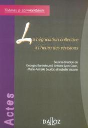 La negociation collective a l'heure des revisions - 1ere ed. - Intérieur - Format classique