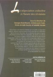 La negociation collective a l'heure des revisions - 1ere ed. - 4ème de couverture - Format classique