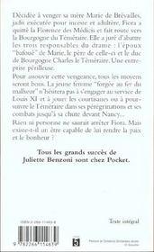 La Florentine T.2 ; Fiora Et Le Temeraire - 4ème de couverture - Format classique