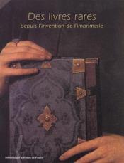 Des livres rares depuis l'invention de l'imprimerie (ne) - Intérieur - Format classique