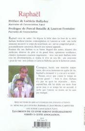Raphael ; Je Veux Que Tu Vives. Mon Enfant... - 4ème de couverture - Format classique