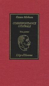 Correspondance generale t.1 - Couverture - Format classique