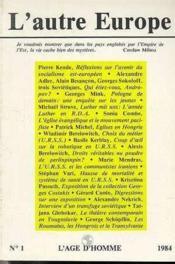 A1 Autre Europe (L') Reflex.S/Avenir - Couverture - Format classique