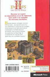 Microsoft Age Of Empires Ii ; Tactiques De Jeu - 4ème de couverture - Format classique