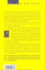 De la destruction du savoir en temps de paix - 4ème de couverture - Format classique