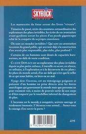 Voyage Dans L'Inconnu - 4ème de couverture - Format classique