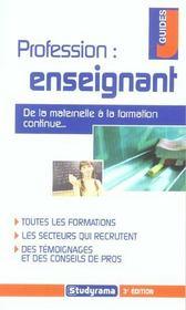 Profession enseignant 3e edition (3e édition) - Intérieur - Format classique
