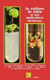 La culture in vitro - Couverture - Format classique