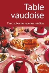 Table vaudoise - Couverture - Format classique