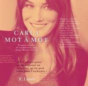 Carla, mot à mot - Couverture - Format classique